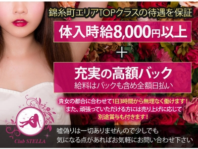 錦糸町いちゃキャバ「STELLA(ステラ)」の高収入求人