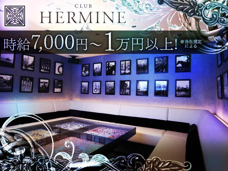 横浜キャバクラ「CLUB HERMINE 新横浜(エルミネ)」の高収入求人
