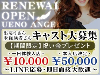 上野セクキャバ「上野・ANGEL(エンジェル)」の高収入求人